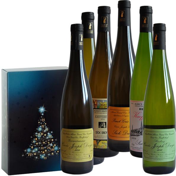 Coffret cadeau Noël Vins d'Alsace Grands crus