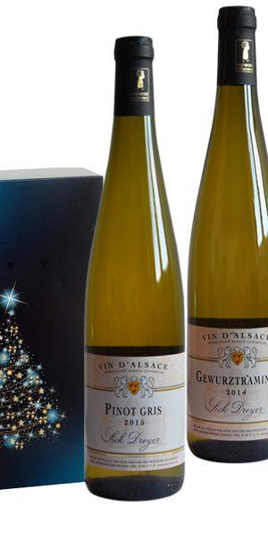 """Coffret cadeau de Noël Vins d'Alsace """"Tradition"""""""